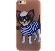 Puppy Pattern TPU Material Soft Phone Case for iPhone 6