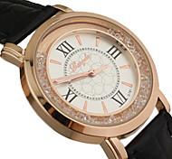 Women's Circular Rolling Beads Quartz Wrist Watch