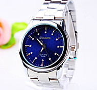 Men's Business Round Diamond Dial PC Movement Steel Strap Fashion Life Waterproof Quartz Watch