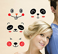 Cartoon Smiling Face PVC Wall Sticker Wall Decals