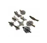 10pcs Bronze Style Alloy Prong Alligator Barrette Hair Clip