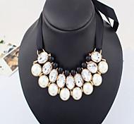MPL All-match elegant pearl necklace ribbon