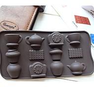Strumenti moda fai da te torta silicone cottura cioccolato muffa del ghiaccio di decorazione cucina stampo (colore casuale)