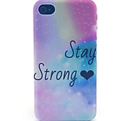 Holding Strong Pattern PC Material Phone Case for iPhone 4/4S