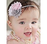 Baby Headband, Baby Girl Headband, Gray Shabby Headband, Flower Headband, Baby Bow, Newborn Headband, Toddler Girl