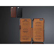 Special Design Genuine Leather Solid Color Full Body Case For iPhone 6s 6 Plus