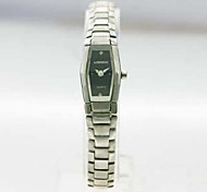 Women's Analog Stainless Steel Case Square Dial Stainless Steel Band Japan Quartz Watch Women Fashion Watch Gift Watch