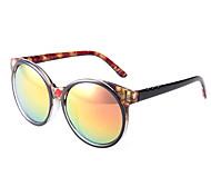 100% UV400 Round Vintage Leopard Frame Sunglasses