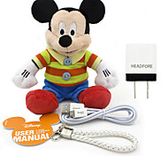 Disney Mickey Plush Cotton Doll Power Bank External Battery For Iphone ,Samsung  And Any USB Device