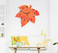 Fashionable Artistic Maple Mute Wall Clock