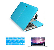 For Macbook Pro with Retina 13.3/15.4 inch Top Quality PU Leather Laptop Cace Bag with Screen Flim and Keyboard Cover