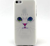 White Cat  Pattern TPU Phone Case for iPhone 5C