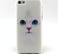 blanc motif de chat TPU de téléphone pour iphone 5c
