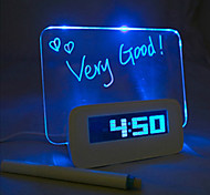 Night Light LED Alarm Clock Message Board Interchanging Colors DC 5V  3*AAA USB Interface