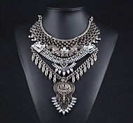 Alloy Plated With Rivet Cubic Zirconia Fashion Necklace