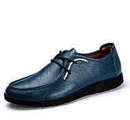 Zapatos de Hombre Oxfords Casual Cuero Azul / Marrón / Naranja
