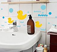 Cartoon Yellow Duck PVC Wall Sticker Wall Decals