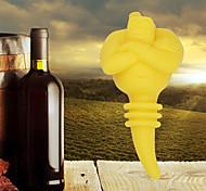 gênio em uma rolha de garrafa de vinho garrafa de silicone protetor de rolha (cor aleatória)
