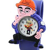 Children's Cute Cartoon Silicone hade strong  Pattern   Lovely Digital Quartz Slap Watch