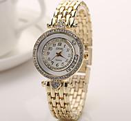 vestido de mulher relógios banda ouro relógios de marca nova de aço chegada dos homens relógio de diamante de cristal para mulheres homens