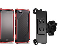 SECTOR PRO Matte Carbon Fiber Back Plate Case +bike mount for iPhone 6(Many Colors)