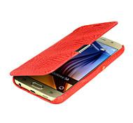 crocodile stries dépouillement étui de téléphone pour Samsung Galaxy S6 (couleurs assorties)