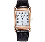 Women's Rectangle Dial Leatherwear And Furs Band Wrist Watch Analog Quartz Watch Cool Watches Unique Watches