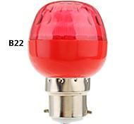 b22 / e27 luz roja 1w llevó globo bombilla (220v)