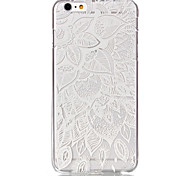 holle bloempatroon ultradunne harde hoesje voor iPhone 6