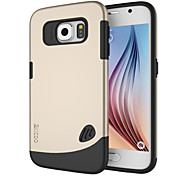 Pebble Series Dual-layer TPU Rubber Protective Carrying Cover Case for Samsung Galaxy S6 (Assorted Color)