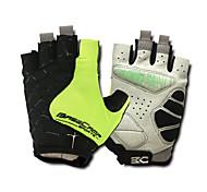 Basecamp Silica GeL Lycra Soft Mat Short Ride Bycicle Semi-finger Gloves Green BC-202