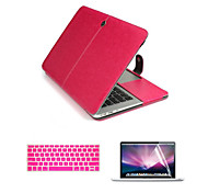 For Macbook Pro 13.3/15.4 inch Top Quality PU Leather Laptop Cace Bag with Screen Flim and Keyboard Cover