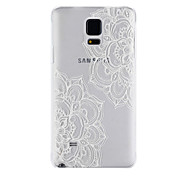Flowering Pattern PC Material Phone Case for Samsung Galaxy Note 4