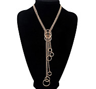 European Style Unique Fashion Circle Necklace