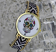 Bohemian Style Women'S Fashion Watches Skull Pattern Hand-Woven Watches Students Watch