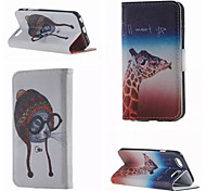 Mice and Deer Pattern PU Leather Double-Sided Leather Diagram For iPhone 5/5S