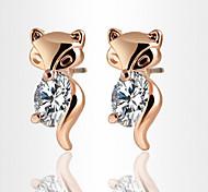 HUALUO®Sweet Personality Cute Little Fox Earrings
