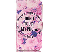 Flowers  Pattern PU Leather Painted Phone Case For GALAXY S3/ S4 / S5 / S6 / S6edge / S3 Mini / S4 Mini / S5 Mini