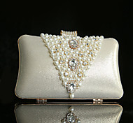 Handbag Luxurious Satin Evening Handbags With Crystal/ Rhinestone