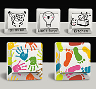 5 Pcs Fashion Creative Funny PVC Wall Sticker Switch Decals