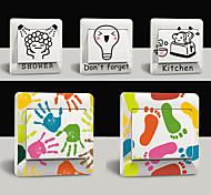Adesivo de Parede - Cores Sortidas - de Plástico - Novidade/Desenhos Animados