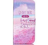 roze zee patroon pu leer geschilderd telefoon geval voor Galaxy S3 / S4 / S5 / s6 / s6edge / s3 mini / mini s4 / s5 mini