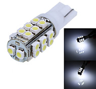T10 4.2W 130lm 6000K 26-SMD 1210 LED White Light Car Width Lamp (12V/1-Pair)