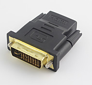 Gold-Plated DVI-D 24+1 Male to HDMI Female Adapter Cable