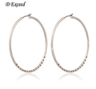 D Exceed New Fashion Korean Style Silver Plated Hoop Earring with Rhinestone for Women