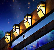 2-LED Warm White Mission-Style Solar Deck Accent Wall Lights