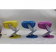 Novelty USB Mini Fan Charging Clip Air Cooler (Assorted Color)