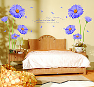 Aster Novi-belgii Love Languages PVC Wall Sticker Wall Decals