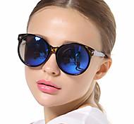 Sunglasses Women's Elegant / Retro/Vintage Round Black / Blue Sunglasses Full-Rim