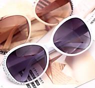 Sunglasses Women's Sports / Fashion Oval White / Champagne / Dark Red / Gray Sunglasses Full-Rim